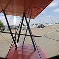Biplane Taxiing Out by Phyllis Spoor