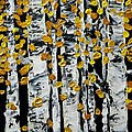 Birch Study Fall by Valerie Ornstein