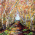 Birch Tree Allee by Ginette Callaway