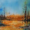 Birches Pond by AmaS Art