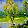 Birches by Ryszard Ludynia