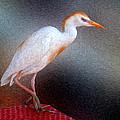 Bird In Faux Oil by Larry Mulvehill