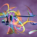 Bird-of-paradise - Abstract by Louis Ferreira