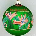 Bird Of Paradise Christmas Bulb by Mary Deal