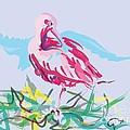 Bird Red Ibis by Go Van Kampen