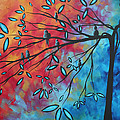 Birds And Blossoms By Madart by Megan Duncanson