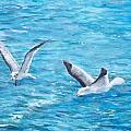 Birds Around Dock by Danny Helms
