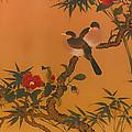 Birds Bamboo And Camellias by Mountain Dreams