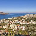 Birds Eye View Of Crete Greece by Sophie McAulay