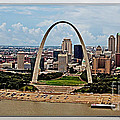 Bird's Eye View Of St.louis  by Walter Herrit