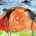 Birds In The Sun. A Black Bird Study 2013 by Cathy Peterson