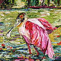 Birds Of Florida Roseate Spoonbill by Ginette Callaway