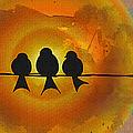 Birds On A Wire by Kiki Art