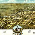 Birdseye View Of Austin Minnesota 1870 by MotionAge Designs