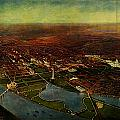 Birdseye View Of Washington 1916 by Celestial Images