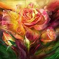 Birth Of A Rose - Sq by Carol Cavalaris