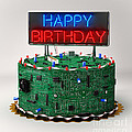Birthday Cake For Geeks by Vintage Treasure