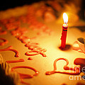 Birthday Cake With Candle by Konstantin Sutyagin