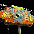 Bishop's Motel - Black by Larry Hunter