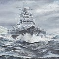 Bismarck Off Greenland Coast  by Vincent Alexander Booth