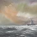 Bismarck Signals Prinz Eugen  by Vincent Alexander Booth