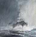 Bismarck Through Curtains Of Rain by Vincent Alexander Booth