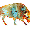 Bison 5 by Watercolor Girl