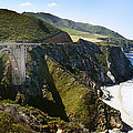 Bixby Bridge Near Big Sur On Highway One In California by Artist and Photographer Laura Wrede