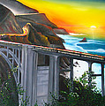 Bixby Coastal Bridge Of California At Sunset by Dunbar's Modern Art