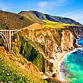 Bixby Creek Bridge Oil On Canvas by Don Kuing