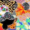 Bizzarro Colorful Psychedelic Floral Abstract by Rose Santuci-Sofranko