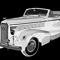 Black An White 1938 Cadillac Lasalle Pop Art by Keith Webber Jr
