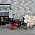 Black And Red Horse Carriage - Vienna Austria  by Imran Ahmed