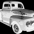 Black And White 1951 Ford F-1 Pickup Truck  by Keith Webber Jr