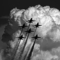 Black And White And Blue Angels by Strato ThreeSIXTYFive