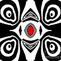 Abstract Black White Red Art No.213 by Drinka Mercep