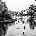 Black And White - Boathouse Row by Bill Cannon