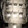 Black And White Bodmin Jail by Lisa Byrne