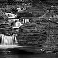 Black And White Cascade by Bill Wakeley