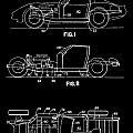 Black And White Corvette Patent by Dan Sproul