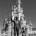 Black And White Disney And Mickey by Kevin Fortier