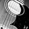 Black And White Harmony Guitar by Athena Mckinzie