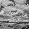 Black And White High Desert Cumulus by Aaron Burrows