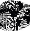 black and white ink print poster One of a Kind Global Fingerprint by Sassan Filsoof