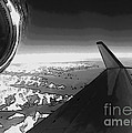 Jet Pop Art Plane Black And White  by R Muirhead Art