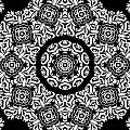 Black And White Medallion 10 by Angelina Vick