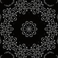 Black And White Medallion 4 by Angelina Vick