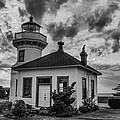 Black And White Mukilteo Lighthouse by Puget  Exposure