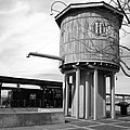 Black And White Of A Water Tower by Paul Cannon