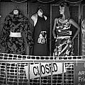 Black And White Outdoor Clothing Display by Randall Nyhof
